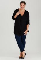 edit Plus - Gypsy Roll-Up Sleeve Shirt Black
