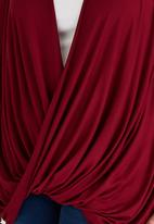 edit Plus - Drape Top Dark Red