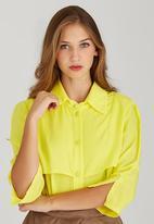 adam&eve; - Mandisa Layered Shirt Yellow