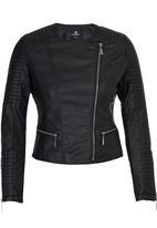 STYLE REPUBLIC - Tubular Biker Jacket Black