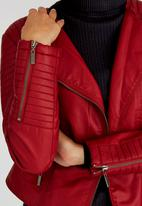 STYLE REPUBLIC - Tubular Biker Jacket Red