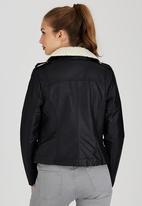STYLE REPUBLIC - Sherpa Aviator Jacket Black