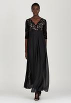 ELIGERE - Lace Gown with Full Skirt Black