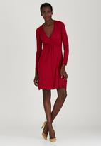 edit - Wrap Dress Dark Red