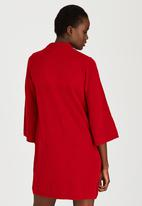 STYLE REPUBLIC - Oversized Jersey Dress Dark Red