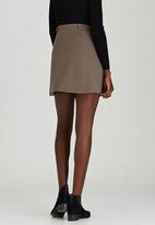 c(inch) - Front Button Mini Skirt Grey