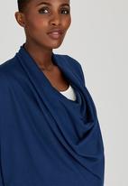 edit Maternity - Cowl Knit Tunic Navy