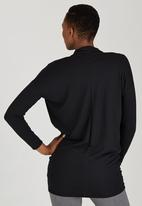 edit Maternity - Cowl Knit Tunic Black