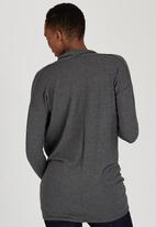 edit Maternity - Cowl Knit Tunic Dark Grey