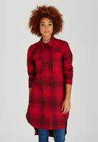 c(inch) - Oversized Shirt Red