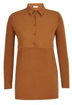 edit - Combo Tunic Mid Brown