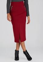 edit - Utility Tube Skirt Dark Red