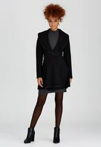 Dusud - Peplum Coat Black