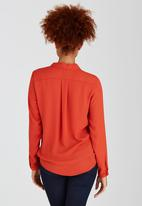 edit - Cross-over Blouse Orange