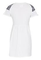 Rebel Republic - Lace Combo Jersey Dress Milk