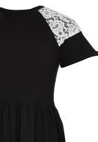 Rebel Republic - Lace Combo Jersey Dress Black