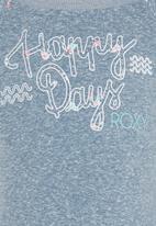 Roxy - Warmin Up - Fleece Sweater Top Mid Blue