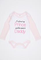 Funky Shop - Prince,Daddy Babygrow Mid Pink