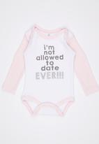Funky Shop - Im Not Allowed To Date Ever Babygrow Multi-colour