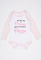 Funky Shop - Pappa Babygrow Mid Pink
