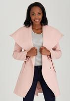 STYLE REPUBLIC - Saddle Stitch Coat Pale Pink
