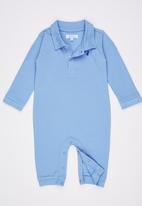 POLO - Tyler Classic Babygrow Pale Blue