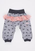 Eco Punk - Baby Girls Harem with mesh frills Grey