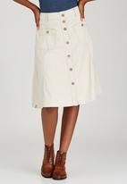 JEEP - Knee Length Twill Skirt Stone