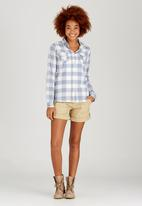 JEEP - Yarn Dyed Check Blouse Blue and White