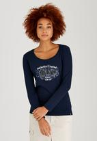 JEEP - Print and Applique Tee Navy