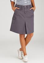 JEEP - Coated Twill Skirt Dark Grey