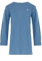 POLO - Zoe Ls Dress Mid Blue