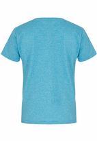 Lizzard - Printed T-Shirt Mid Blue