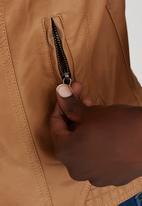 STYLE REPUBLIC - Moto Jacket Camel/Tan