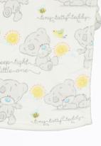 Character Baby - Tiny Tatty Teddy Coral Fleece Throw Multi-colour