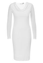 edit - Cowl Neck Slinky Dress Milk