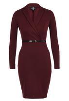 STYLE REPUBLIC - Suit Dress Dark Red