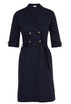edit - Trench Dress Navy