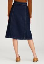 STYLE REPUBLIC - Midi A-Line Skirt Dark Blue