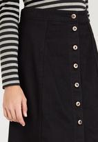 STYLE REPUBLIC - Midi A-Line Skirt Black