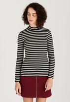 c(inch) - Turtle Neck Long Sleeve Top Multi-colour