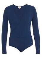 edit - Wrap Bodysuit Navy