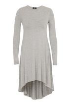 STYLE REPUBLIC - High Low Knit Dress Grey Melange