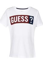 GUESS - Bsc Jsy Crew Screenprint White