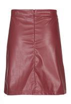 Rebel Republic - PU Skirt Dark Red