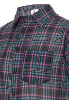 Rebel Republic - Check Tunic Shirt Multi-colour