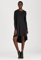 STYLE REPUBLIC - High Low Knit Dress Black
