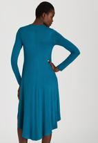 STYLE REPUBLIC - High Low Knit Dress Mid Blue