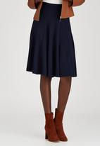 STYLE REPUBLIC - Panel Midi Skirt Navy