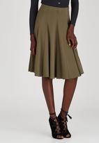STYLE REPUBLIC - Panel Midi Skirt Khaki Green